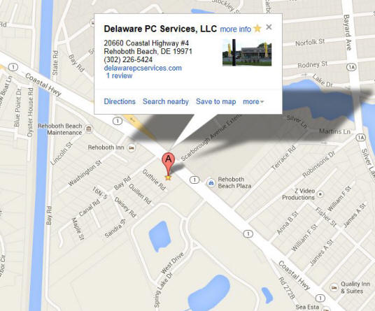Where we are located, Delaware PC Services, LLC.
